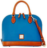 Dooney & Bourke Pebbled Leather Zip Satchel