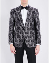 Ralph Lauren Purple Label Art Deco Silk Tuxedo Jacket
