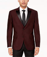 Alfani Men's Slim-Fit Burgundy Mini-Grid Dinner Jacket, Created for Macy's