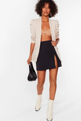 Nasty Gal Womens With All Your Power Puff Shoulder Blazer - Black - S, Black