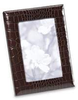 Graphic Image Embossed Leather-Wrapped Photo Frame