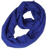 Cotton Hemp Rectangle Warm Ninasill Scarf (Blue)