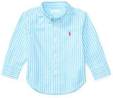 Ralph Lauren Boy Striped Cotton Poplin Shirt