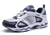 White & Navy Sport Sneaker
