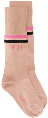 No.21 Mid-Calf Logo Print Socks
