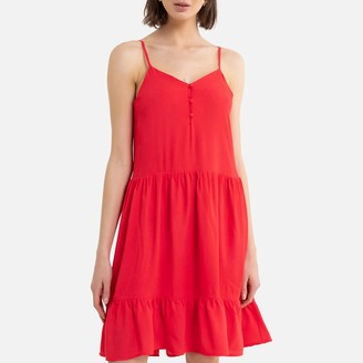 La Redoute Collections Short Dress with Shoestring Straps
