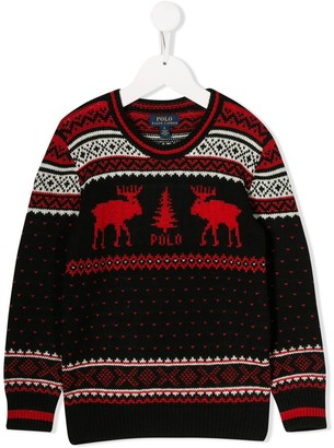 Ralph Lauren Kids knitted Christmas jumper