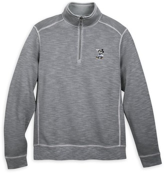 Disney Mickey Mouse Long Sleeve Pullover for Men by Tommy Bahama Gray