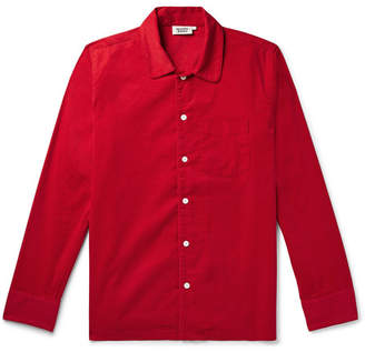 Sleepy Jones Henry Cotton-Corduroy Pyjama Shirt