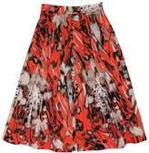 LK Bennett Brown & Orange Flared Skirt