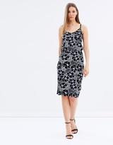 Warehouse Woodblock Floral Cami Dress