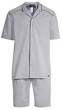 Hanro Men's Theo 2-Piece Short-Sleeve Pajama Set