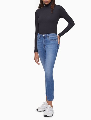 Calvin Klein Skinny Fit High Rise Enza Whisper Soft Ankle Jeans