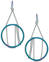 Trina Turk Hematite-Tone Iridescent Circle Chandelier Earrings