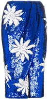 Filles a papa High-Waisted Floral Sequin Embellished Skirt