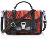 Proenza Schouler Mixed Woven Leather Shoulder Bag