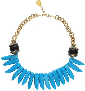 Devon Leigh Turquoise Spike Necklace