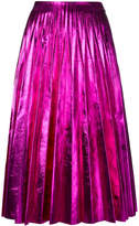 Gucci pleated metallic skirt