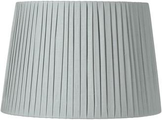 OKA 40cm Pleated Linen Lampshade - Grey Blue