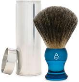 eShave Travel Fine Badger Hair Shaving Brush with Canister (Blue)
