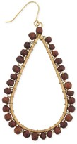 Z Designs Teardrop Wood Bead Earrings