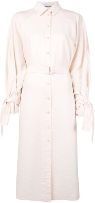 Kenzo Belted Mid-Length Shirt Dress
