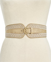 INC International Concepts Embroidered Stretch Belt, Only at Macy's
