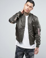 Alpha Industries Ma1 Reversible Bomber Jacket In Grey And Camo