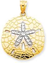 goldia 14k Gold & Rhodium Polished Diamond-cut Sand Dollar Pendant
