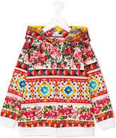 Dolce & Gabbana printed hoodie - kids - Cotton/Spandex/Elastane - 4 yrs