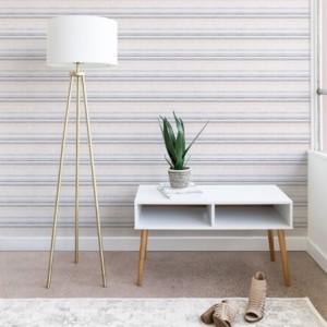 Deny Designs Holli Zollinger French Linen Stripe Navy 2'x8' Wallpaper