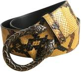 Gucci Feline Buckle python belt