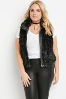 Forever 21 Plus Size Zipped Faux Fur Vest