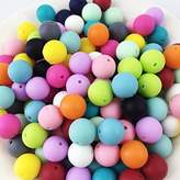 50pc 12mm Silicone Beads Loose Teething Chew Jewelry Teething Necklace Teether Toy DIY Supplies by LOVEBABY