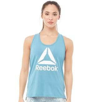Reebok Womens Workout Ready Supremium Logo Tank Top Mineral Mist