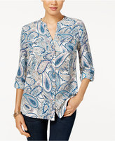 Charter Club Paisley-Print Utility Shirt, Only at Macy's