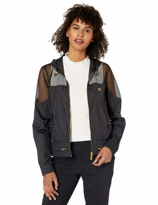 True Religion Women's MESH Cropped Jacket