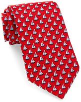Tailorbyrd Silk Sailboat Tie