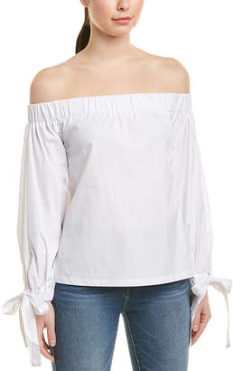 7 For All Mankind Seven 7 Off-The-Shoulder Tie Top
