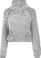 Urban Classics Women's Ladies Short Turtleneck Roll Collar Sweater