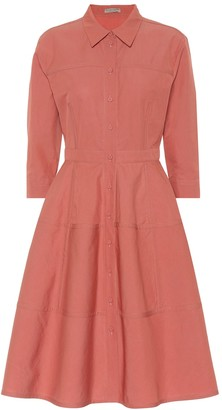 Bottega Veneta Cotton and silk shirt dress