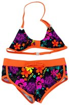 Aivtalk Kids Girls Tie-Dye Tankini Top Swim Briefs Beach Wear Bathing Suit 8-9Y