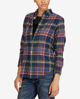 Polo Ralph Lauren Classic Fit Plaid Twill Cotton Shirt