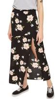 Topshop Women's Split Floral Maxi Skirt