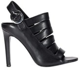 KENDALL + KYLIE Women's Black Leather Heels.