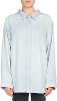 Balenciaga Chambray Swing Collar Shirt