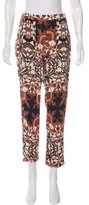 Maje Printed Straight-Leg Pants
