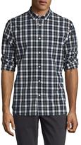 Jachs Button Collar Tartan Plaid Sportshirt