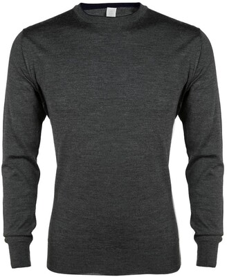 Eleventy Fine Gauge Merino Wool & Silk Crewneck Sweater