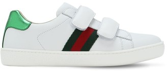 Gucci New Ace Leather Strap Sneakers
